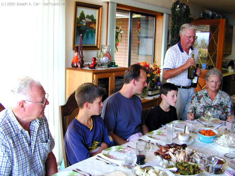 Don, Chris, Kevin, Taylor, Bob, Jean - Thanksgiving dinner