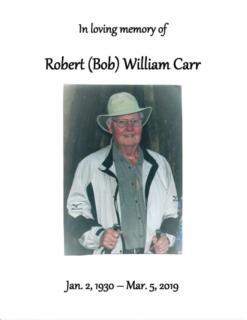 Robert William Carr - 1930-2019